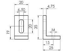 Alumínio Extrudado – Base 30/40/50mm - Perfil em Alumínio
