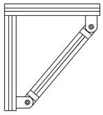 Articulações – Exemplo de aplicação -  Bancadas em Alumínio