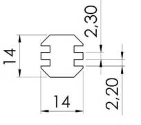 Perfis Base 30mm - Perfil em Alumínio