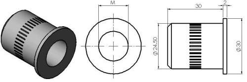 Bucha para perfil B02-6 (60×60) -  Perfil em Alumínio em Araucária