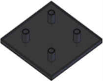 Capas de fechamento Base 30mm -  Bancadas em Alumínio em Araucária