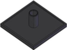 Capas de fechamento Base 40mm - Perfil em Alumínio