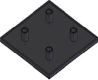Capas de fechamento Base 40mm -