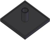 Capas de fechamento Base 50mm - Perfil em Alumínio