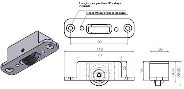Carrinho de roletes SPR-01 -  Bancadas em Alumínio