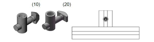 Conector padrão – DD20-10/20 -  Bancadas em Alumínio em Curitiba e Região