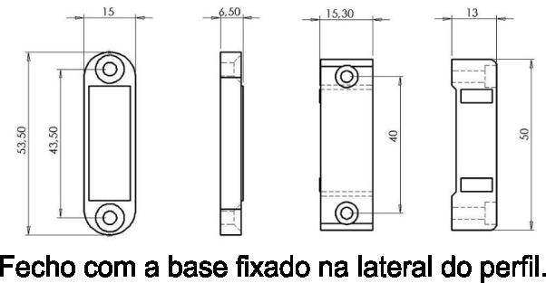 Fechos magnéticos - Perfil em Alumínio