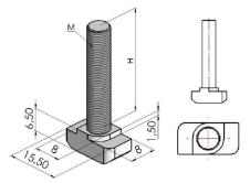 Parafusos T Base 30mm -  Automação Industrial em Curitiba