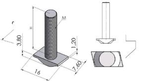 Parafusos T Base 30mm -  Perfil em Alumínio em Curitiba e Região