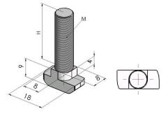 Parafusos T Base 40/45/50mm -  Perfil em Alumínio em Araucária