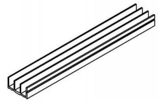 Perfil de canal triplo -  Enclausuramentos em Araucária
