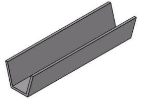 Perfis PU Fechamento de Ranhuras -  Bancadas em Alumínio
