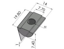 Porcas Leves Base 40/45/50mm -  Bancadas em Alumínio