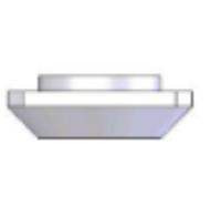 Porcas Retangulares Base 20mm -  Perfil em Alumínio em Araucária