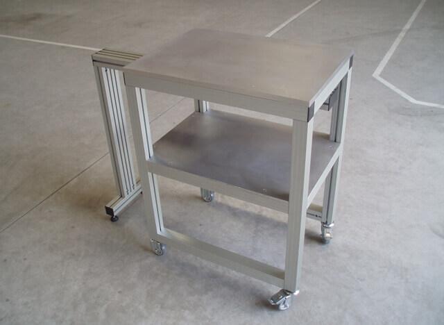 Estruturas de Máquinas -  Bancadas em Alumínio em Araucária