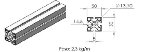 PERFIL 30X30 Universal -  Automação Industrial em Araucária